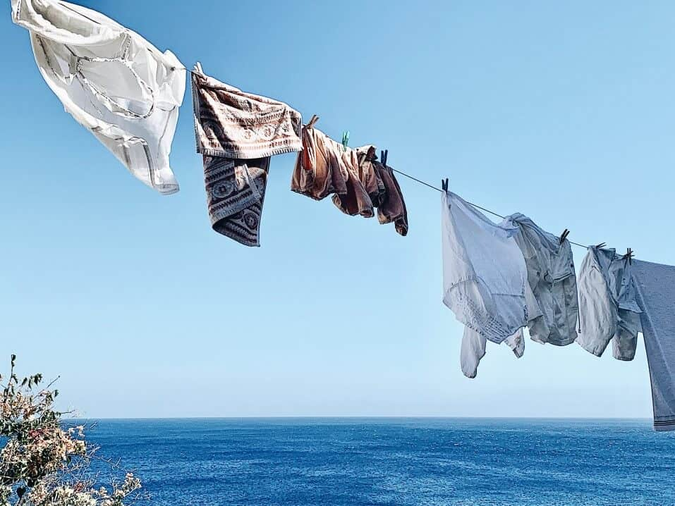 Clothesline Drying In The Wind