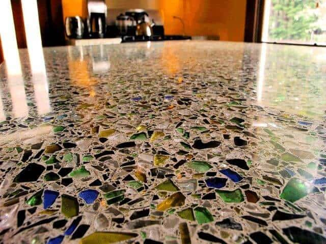 Recycled Glass Floor
